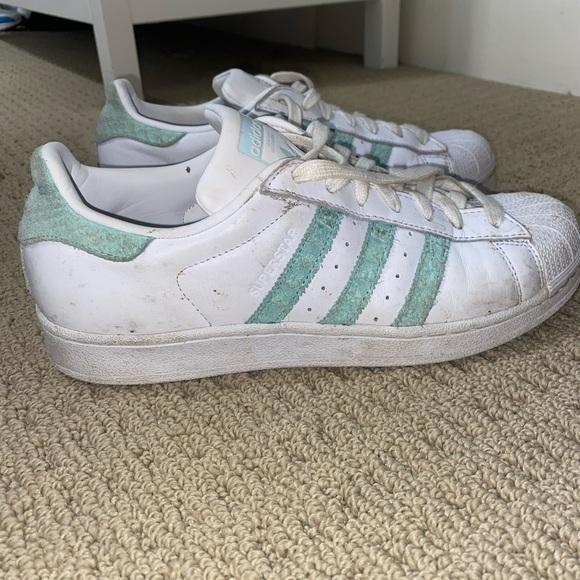 adidas Shoes | Adidas Superstar Shoes Turquoise | Poshmark